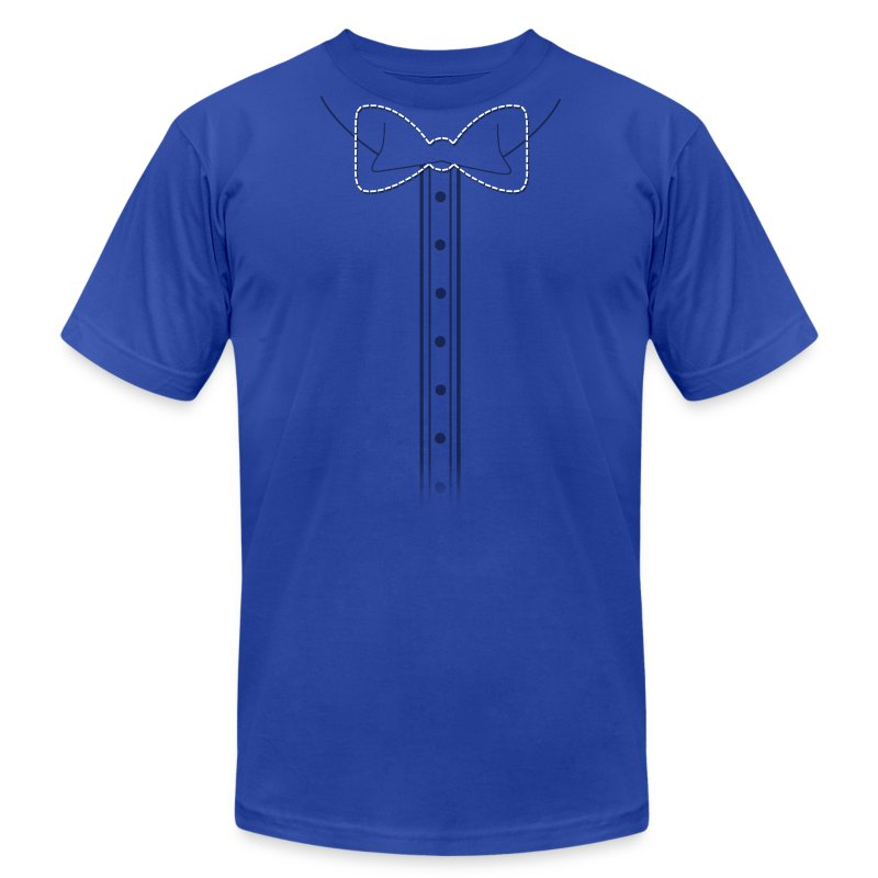 Add Bow Here Bow Tie - Men's Fine Jersey T-Shirt
