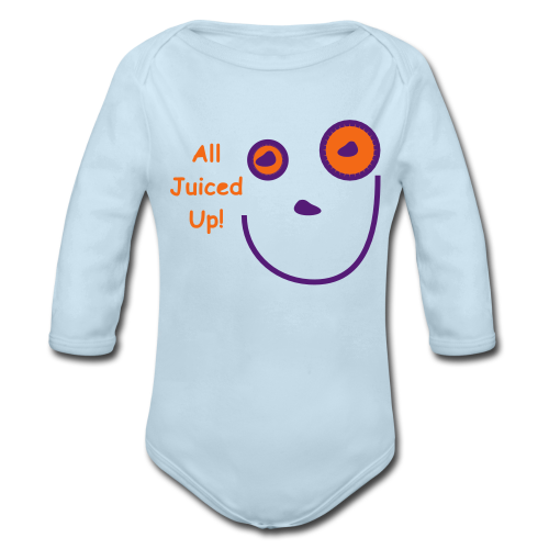 All Jucied Up Let's Play - Organic Long Sleeve Baby Bodysuit