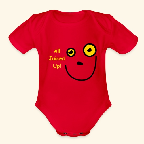 All Jucied Up Let's Play - Organic Short Sleeve Baby Bodysuit