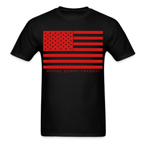 Money.Power.Respect Tee (Red) - Men's T-Shirt