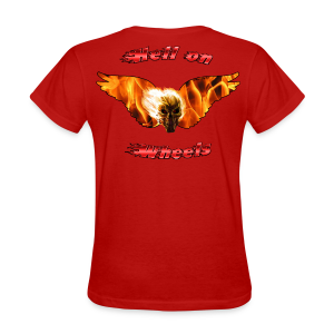 Ladies T Hell on Wheels (Back) - Women's T-Shirt