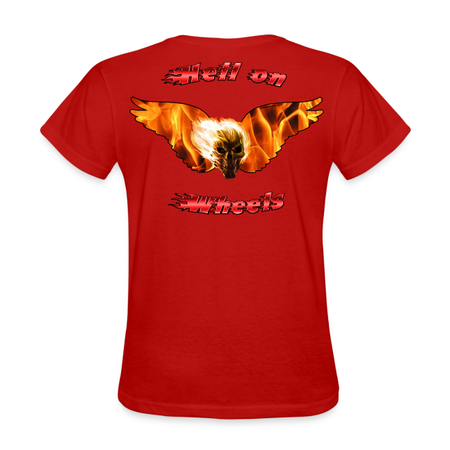 Ladies T Hell on Wheels (Back)