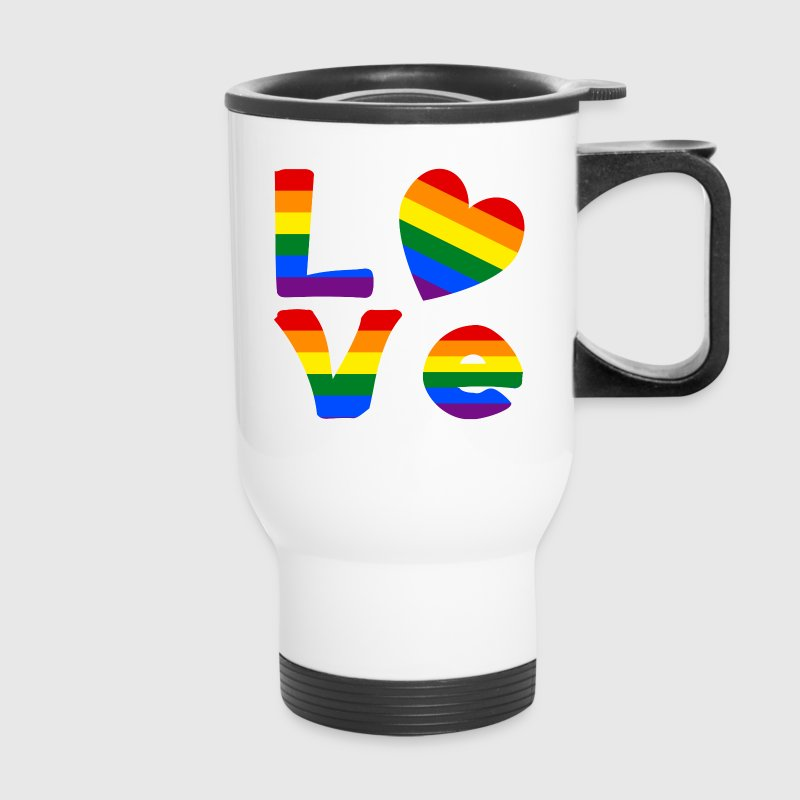 Gay Pride LOVE - Travel Mug