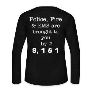 Brought to you by 911 - Women's Long Sleeve Jersey T-Shirt