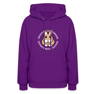 'Bonkers About Bunnies' Ladies Hooded Sweatshirt - Women's Hoodie