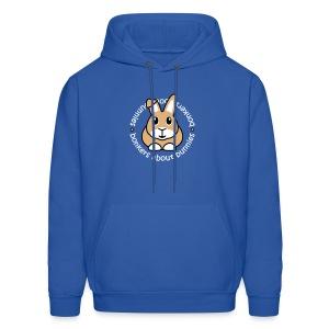 'Bonkers About Bunnies' Men's/Unisex Hooded Sweatshirt - Men's Hoodie