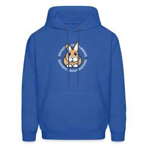 'Bonkers About Bunnies' Men's/Unisex Hooded Sweatshirt - Men's Hoodie