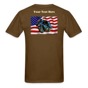 Men's T Back USFlagHar Custom - Men's T-Shirt