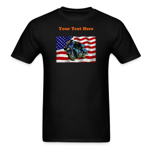 Men's T Front USFlagHar Custom - Men's T-Shirt