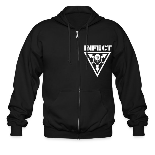 INFECT WORLD DOMINATION ZIP UP HOODIE