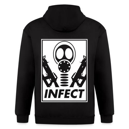 INFECT WORLD DOMINATION ZIP UP HOODIE - Men's Zip Hoodie