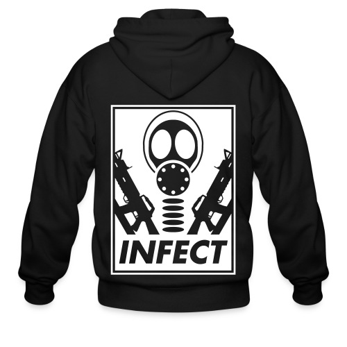 INFECT WORLD DOMINATION ZIP UP HOODIE - Men's Zip Hoodie
