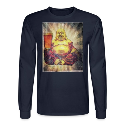 Cosmic Beer Buddha Men's Long Sleeve T-Shirt - Men's Long Sleeve T-Shirt