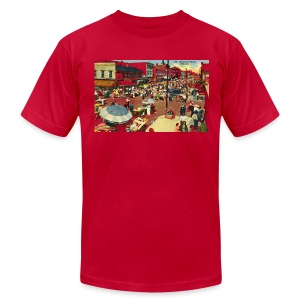 Maxwell Street Postcard, Early 1900's - Men's T-Shirt by American Apparel