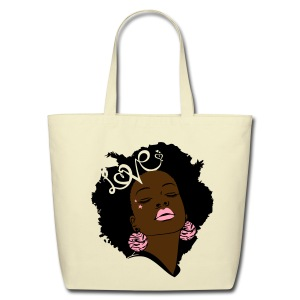 SN&LI! Retro Afro Pinky Tote - Eco-Friendly Cotton Tote