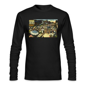 Maxwell Street Postcard, Early 1900's - Men's Long Sleeve T-Shirt by Next Level