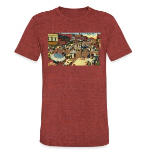 Maxwell Street Postcard, Early 1900's - Unisex Tri-Blend T-Shirt by American Apparel