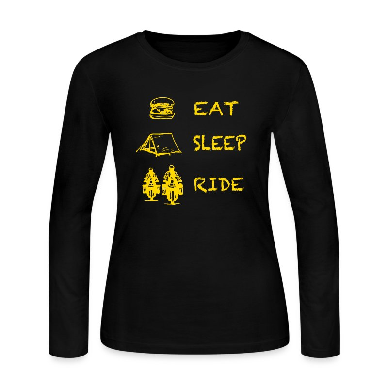 Eat - Sleep - Ride / Longsleeve LADIES - Women's Long Sleeve Jersey T-Shirt
