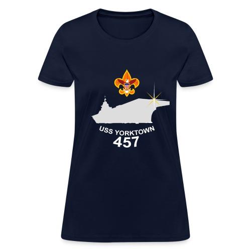 USS Yorktown 457 Visit Women's T-Shirt (Dark) - Women's T-Shirt