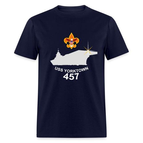 USS Yorktown 457 Visit Men's T-Shirt (Dark) - Men's T-Shirt