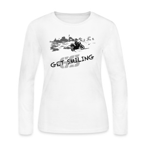 get smiling / Longsleeve LADIES - Women's Long Sleeve Jersey T-Shirt