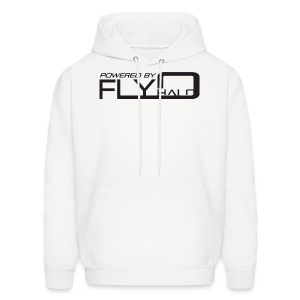 White Powered By Fly Halo Hoodie - Men's Hoodie