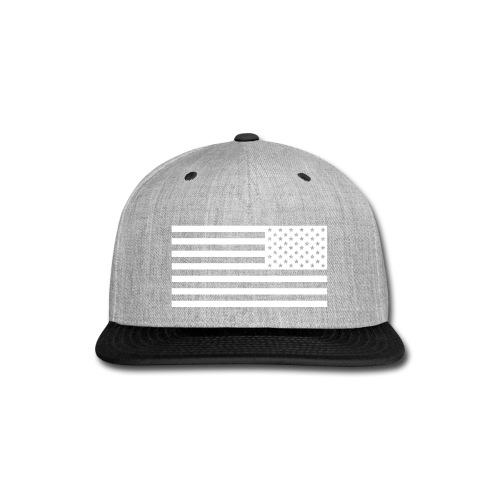 Backwards American Flag SnapBack - Snap-back Baseball Cap