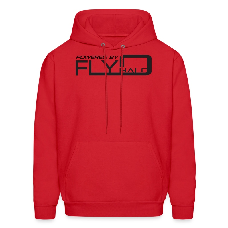 Red Powered By Fly Halo Hoodie - Men's Hoodie