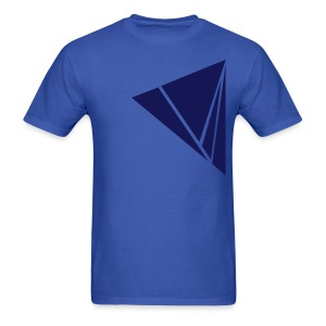 Men's T-Shirt - Blue color Explode graphic design on men's shirt. Zoned Apparel offers the most unique illustration design apparel on the web.
