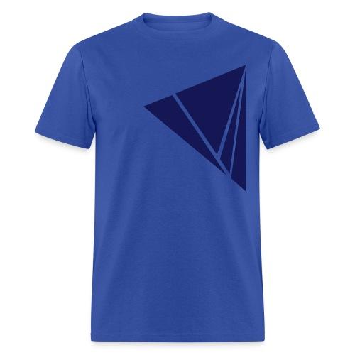 Men's T-Shirt - Blue color Explode graphic design on men's shirt. Zoned Apparel offers the most unique illustration design apparel on the web.