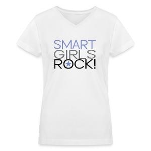 Smart Girls Rock Multi - Women's V-Neck T-Shirt