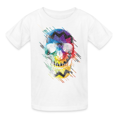 Geometric Art Skull T-Shirt | Spreadshirt