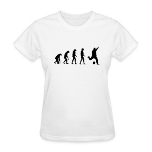 Evolved to play Soccer - Women's T-Shirt