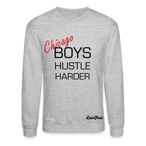 Hustle Harder Men  - Crewneck Sweatshirt
