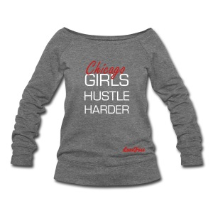 Hustle Harder - Women's Wideneck Sweatshirt