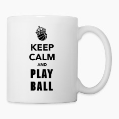 Keep Calm and Play Basketball Bottles & Mugs