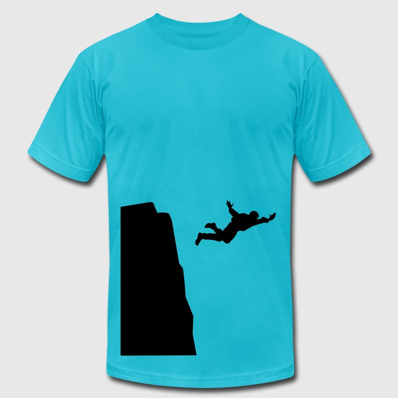 Base jumping Silhouette T-Shirts - Men's T-Shirt by American Apparel