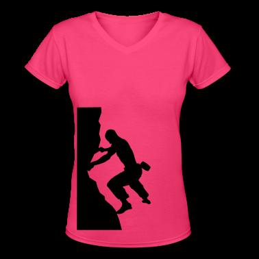 Rock Climbing Silhoeutte Women's T-Shirts