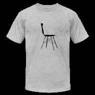 T-Shirts ~ Men's T-Shirt by American Apparel ~ eames chair black