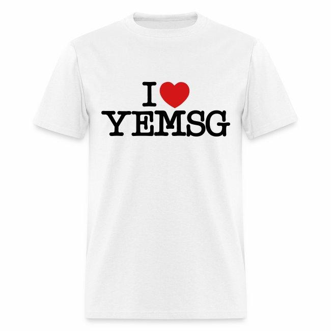I heart YEMSG Men's T-shirt (light)
