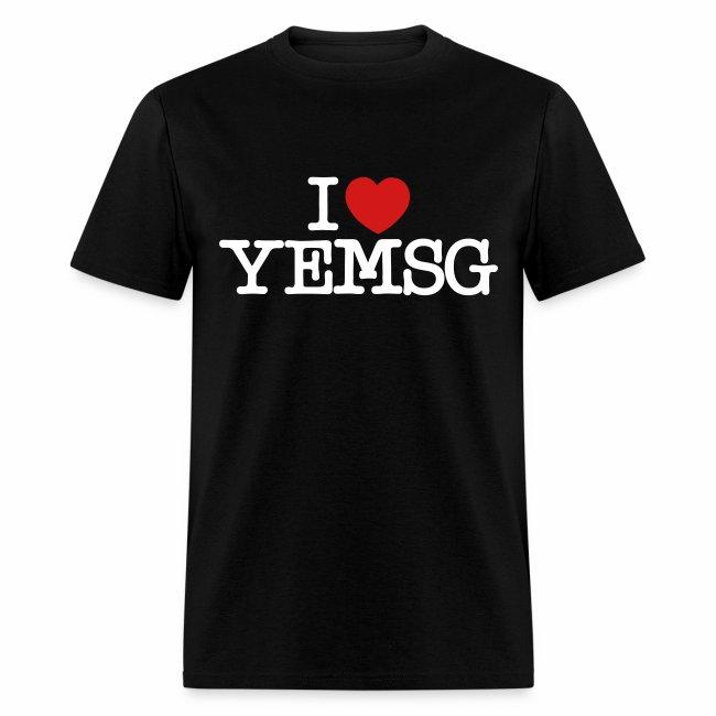 I heart YEMSG Men's T-shirt (dark)