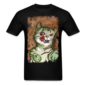 mens green zombie cat - Men's T-Shirt
