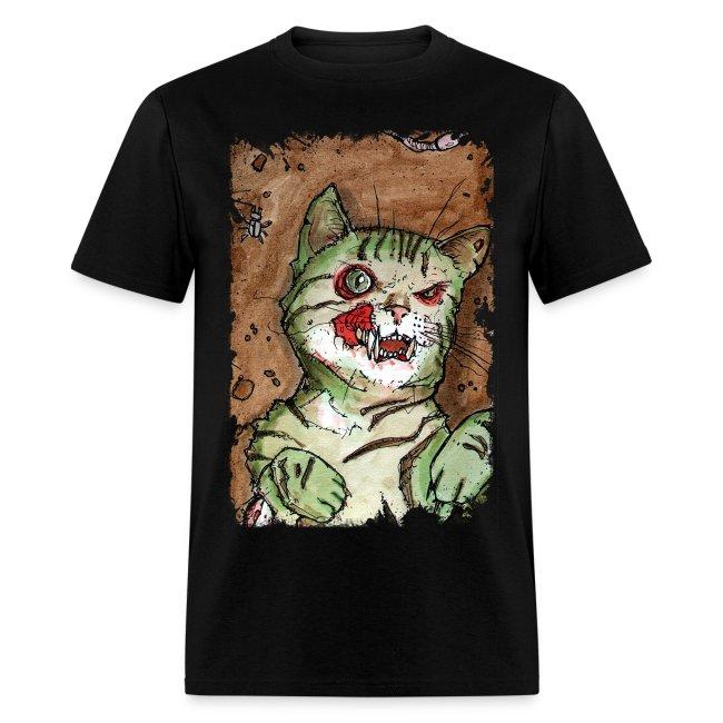 mens green zombie cat
