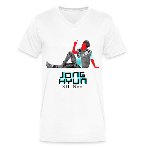 SHINEE- Jonghun Dream Girl - Men's V-Neck T-Shirt by Canvas