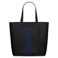 Bags & backpacks ~ Eco-Friendly Cotton Tote ~ SHINEE- Dream Girl (Blue Metallic)