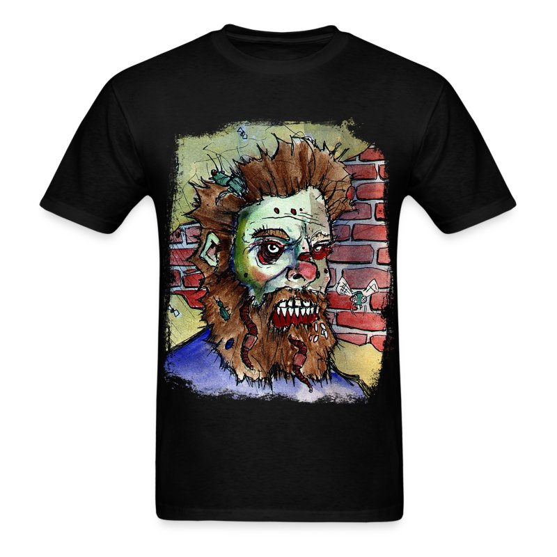 mens living dead beard zombie - Men's T-Shirt