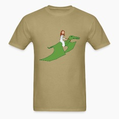 Jesus on a Pterodactyl T-Shirts