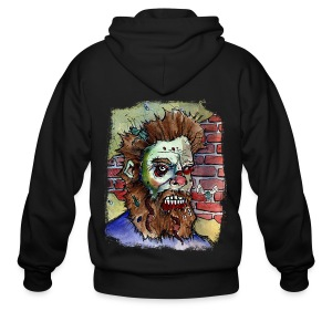 mens living dead beard zombie - Men's Zip Hoodie