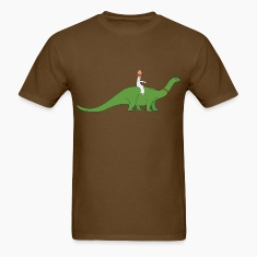 Jesus on a Brontosaurus T-Shirts