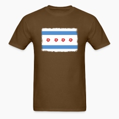 Bullet Hole Chicago Flag T-Shirts